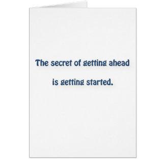 マーク・トウェインの引用文-前方に得ることの秘密は…あります ノートカード