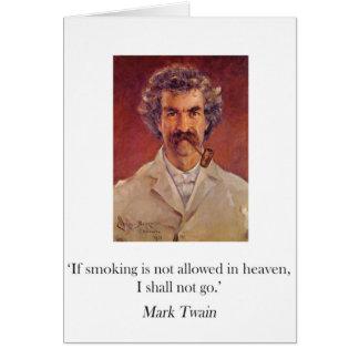 マーク・トウェインの管の喫煙カード カード