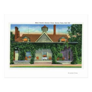 マーク・トウェインの避暑用の家、石切り場の農場 ポストカード
