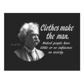 マーク・トウェイン: 衣服は人を作ります ポストカード