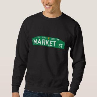 マーケットストリート33番地、フィラデルヒィアのPAの道路標識 スウェットシャツ