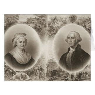 マーサおよびジョージ・ワシントン1876年 カード