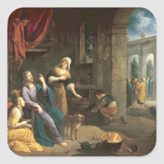 マーサおよびメリーの家のイエス・キリスト スクエアシール