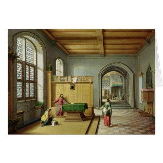 マーサおよびメリーの家のキリスト カード