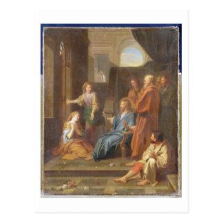 マーサおよびメリーの家のキリスト ポストカード