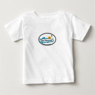 マーサのブドウ園の楕円形の設計 ベビーTシャツ