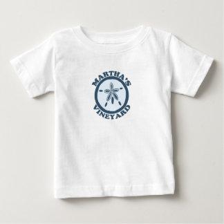 """マーサのブドウ園の""""砂ドル""""の設計 ベビーTシャツ"""