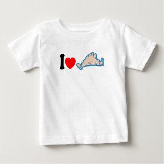 """マーサのブドウ園""""私は""""設計を愛します ベビーTシャツ"""