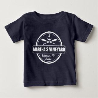 マーサのブドウ園、MAの町、名前、航海のないかり ベビーTシャツ