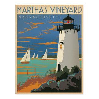 マーサのブドウ園、MA -灯台 ポストカード