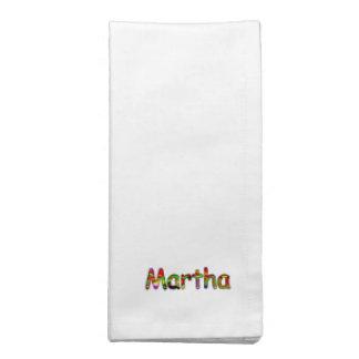 マーサの夕食の付属品の白い布のナプキン ナプキンクロス