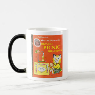 マーサ・スチュワートの風変わりなピクニック道路地図 モーフィングマグカップ
