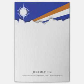 マーシャルアイランドの旗 ポストイット