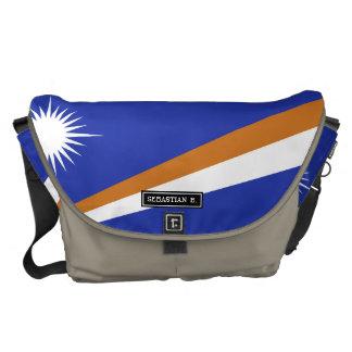 マーシャルアイランドの旗 メッセンジャーバッグ