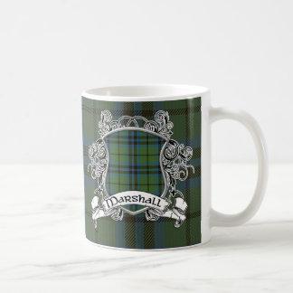 マーシャルタータンチェックの盾 コーヒーマグカップ