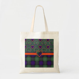 マーシャル一族の格子縞のスコットランドのキルトのタータンチェック トートバッグ