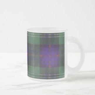 マーシャル一族の格子縞のスコットランドのキルトのタータンチェック フロストグラスマグカップ