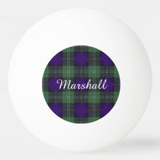 マーシャル一族の格子縞のスコットランドのキルトのタータンチェック 卓球ボール