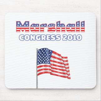 マーシャル愛国心が強い米国旗2010の選挙 マウスパッド
