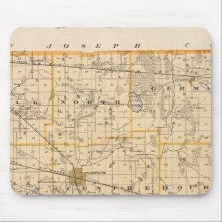 マーシャル郡の地図 マウスパッド