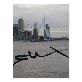 マース川、ロッテルダム ポストカード