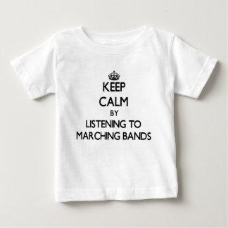 マーチングバンドに聞くことによって平静を保って下さい ベビーTシャツ