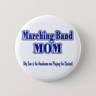 マーチングバンドのお母さんのクラリネット 5.7CM 丸型バッジ