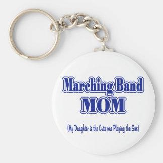 マーチングバンドのお母さんのサクソフォーン キーホルダー