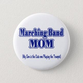 マーチングバンドのお母さんのトランペット 5.7CM 丸型バッジ