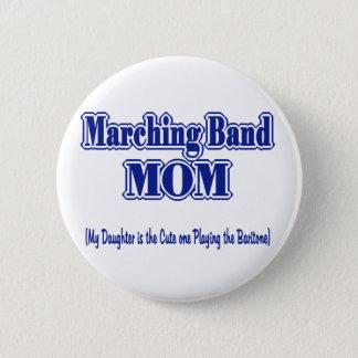 マーチングバンドのお母さんのバリトン歌手 5.7CM 丸型バッジ