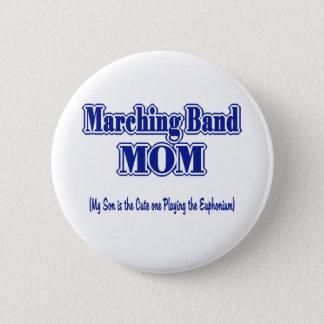 マーチングバンドのお母さん 5.7CM 丸型バッジ