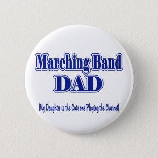 マーチングバンドのお父さんのクラリネット 5.7CM 丸型バッジ
