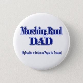 マーチングバンドのお父さんのトロンボーン 5.7CM 丸型バッジ