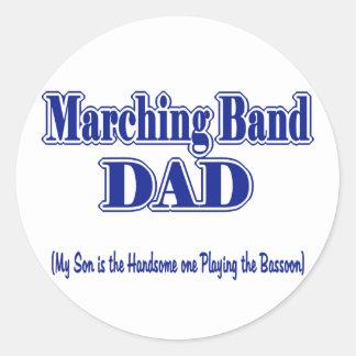 マーチングバンドのお父さんのバスーン ラウンドシール