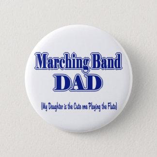 マーチングバンドのお父さんのフルート 缶バッジ