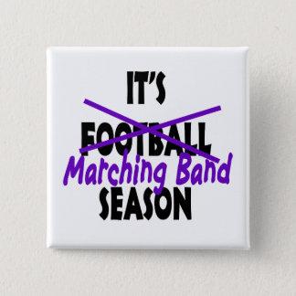 マーチングバンドの季節の紫色 5.1CM 正方形バッジ