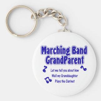 マーチングバンドの祖父母のクラリネット キーホルダー