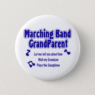 マーチングバンドの祖父母のサクソフォーン 缶バッジ