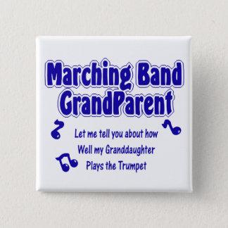 マーチングバンドの祖父母のトランペット 5.1CM 正方形バッジ