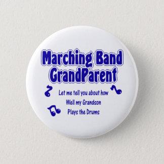マーチングバンドの祖父母のドラム 5.7CM 丸型バッジ