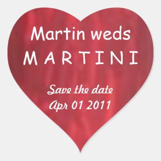 マーティンはマルティーニ-恋人の保存--を日付結婚します ハートシール