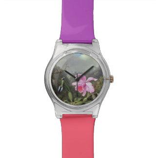 マーティン・ジョンソンHeadeの蘭およびハチドリ 腕時計