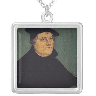 マーティンLuther 1543年のポートレート シルバープレートネックレス