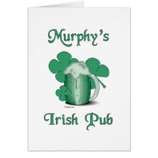 マーフィーのアイルランドのパブ カード
