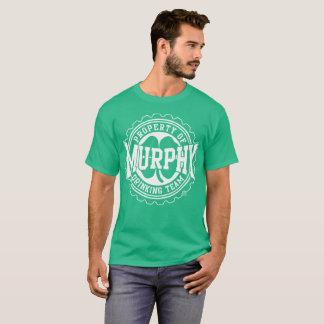 マーフィーのアイルランドの飲むチームビール帽子 Tシャツ