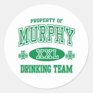 マーフィーのアイルランドの飲むチーム ラウンドシール