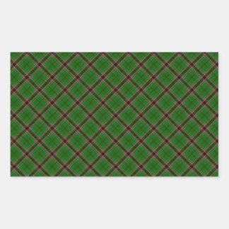マーフィーの一族のタータンチェックのアイルランド語によって設計されているプリント 長方形シール