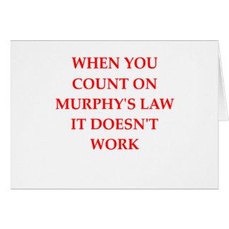 マーフィーの法律 カード