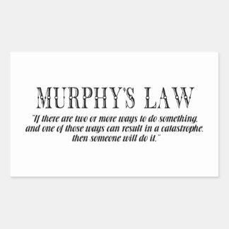 マーフィーの法律 長方形シール