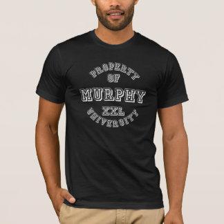 マーフィー大学白の特性 Tシャツ